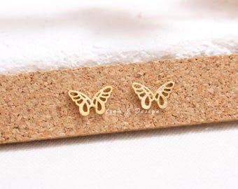 Dainty Small Butterfly Stud Earrings