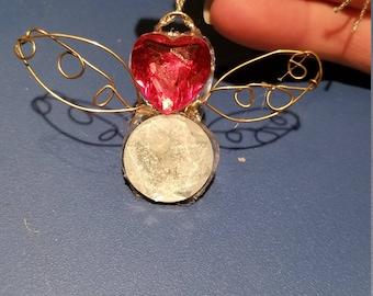 Wire heart angel