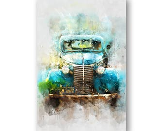 Car Perspective Abstract Painting, Car Perspective Abstract Wall Art, Car Wall Art Painting Printed on Glass or Acrylic