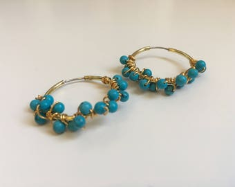 Turquoise Bubble Earrings (Summer Collection)