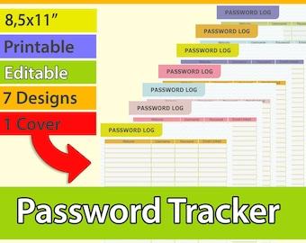 Account login etsy password tracker password log finance planner website password keeper printable password list pdf m4hsunfo
