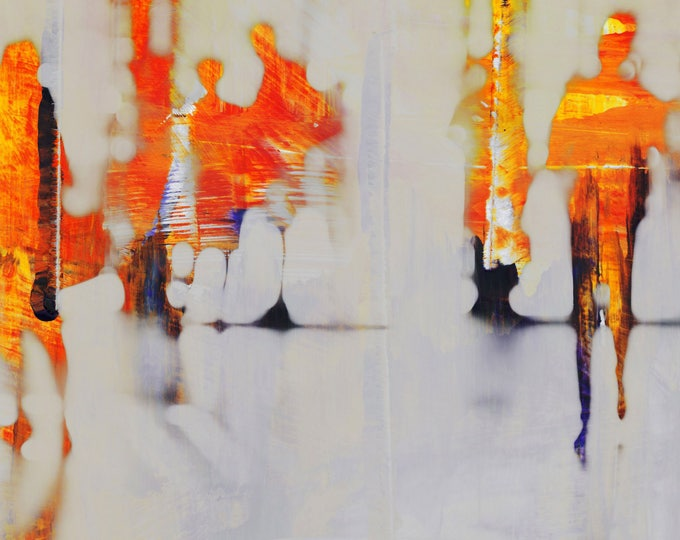 SAIGON BLUR XIX - Mixed Media Art by Sven Pfrommer - Artwork is ready to hang