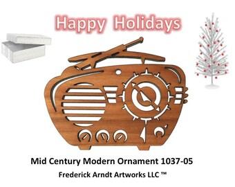 1037-5 Mid Century Modern Christmas Ornament