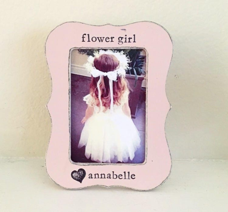 Flower girl picture frame Gift for flower girl personalized