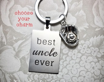 Uncle Keychain, U1, Gifts for Uncle, Father's Day Gift, Best Uncle Ever, Personalized Keychain, Uncle Gifts, Uncle Keyring, Uncle Jewelry