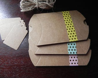 KIT complete gift package: 3 cartons + tags + Twine measuring 9 cm x 7 cm