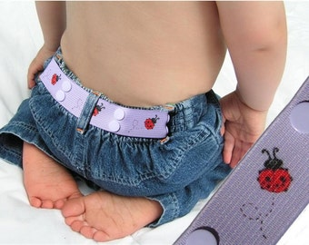 "Toddler Belt - Elastic Snap Belt - ""LadyBug"""