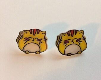 Fat Kitty Earrings