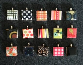 Scrabble Tile Pendants