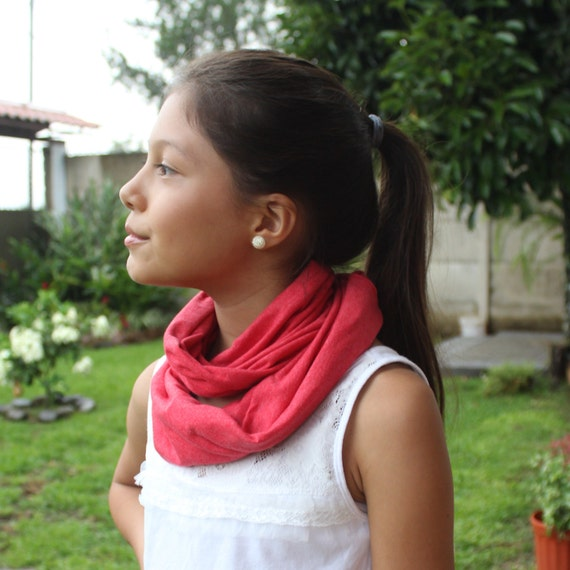 Red Baby Scarf, Infinity Scarves, Circle Scarf, Tube Scarf, Winter Scarf, Baby Scarf, Fall Scarf, Baby Girls Gifts, Girls Scarves