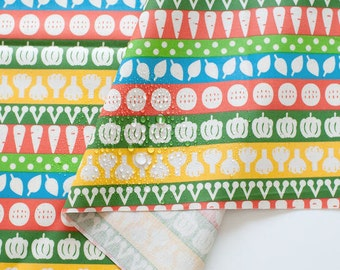 Colorful Vegetables Laminated Fabric - By the Yard 93521