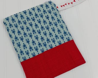 Wet Bag Zippered (Small) - Lobsters