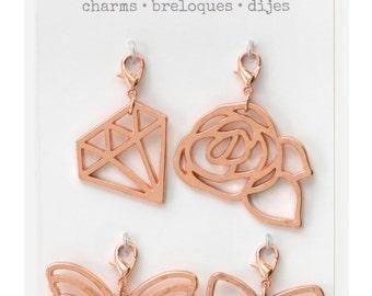Pink Paislee Bella Rouge - Metal Charms  -- MSRP 5.00