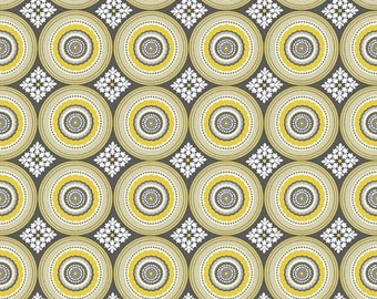 Summer Clearance Parisian Medallion in Yellow from Riley Blake Designs - 1 Yard