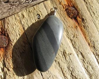 R34 Banded Chert Rock Pendant