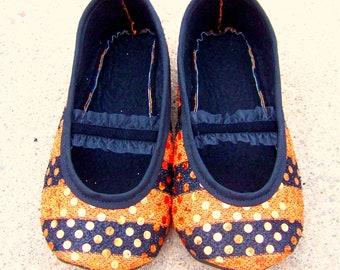 Sequin Halloween Mary Janes (Sizes 1-12)PLEASE MEASURE Child's Feet