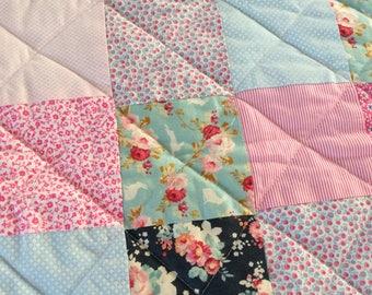 Plaid, patchwork blanket
