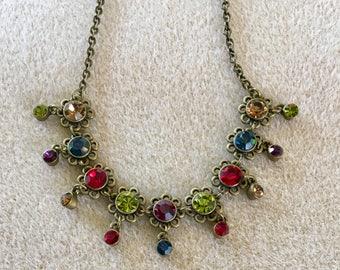 Vintage VCLM Rhinestone Necklace