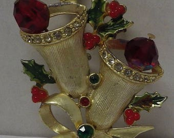Colorful Christmas Brooch