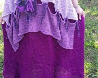 Handknitted Long Maxi Skirt