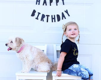Happy Birthday Banner...Mini Happy Birthday Garland...Birthday Banner...First Birthday...Happy Birthday Sign...Glitter Birthday Banner