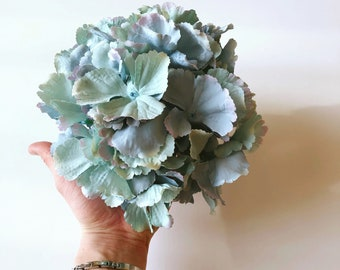 Teal silk hydrangea, Artificial blooming flowers, silk flowers, Artificial flowers, Faux flowers