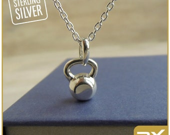 Gym gifts for her fitness jewelry for women weight loss gift workout lovers silver kettlebell charm Bodybuilding necklace fitfam pendant