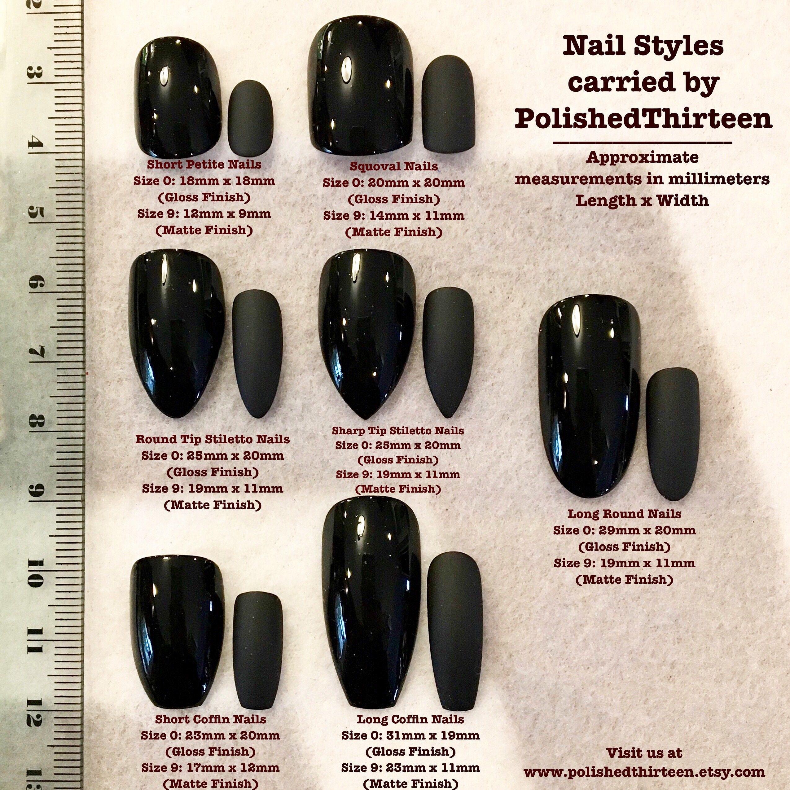Seafoam Green And Black Fake Nails * Faux Nails * Glue On Nails ...