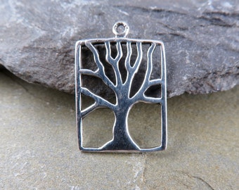 Charms - Sterling Silver Tree Of Life -Findings -Jewelry Making Supplies - Bohemian Findings -Sterling Silver Charms - Artisan Findings -TR3