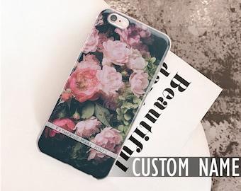 For Samsung Galaxy S9 case, Note 8 Case, S8 Active, Black, Black flowers, Black floral, Samsung S8 case, Samsung J7 2017, Samsung S7 case 84