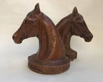 1930's SyroccoWood Horse Head Bookends