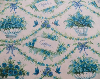 Vintage Mom Wrapping Paper, Vintage Gift Wrap, One sheet 29X19 inches, All occasion Mothers Day Birthday Gift Wrap