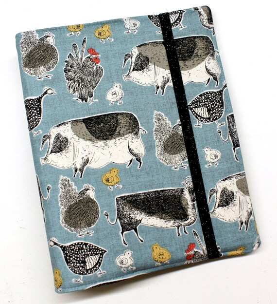 Blue Farmyard Friends WIP Tracker Cover and Binder