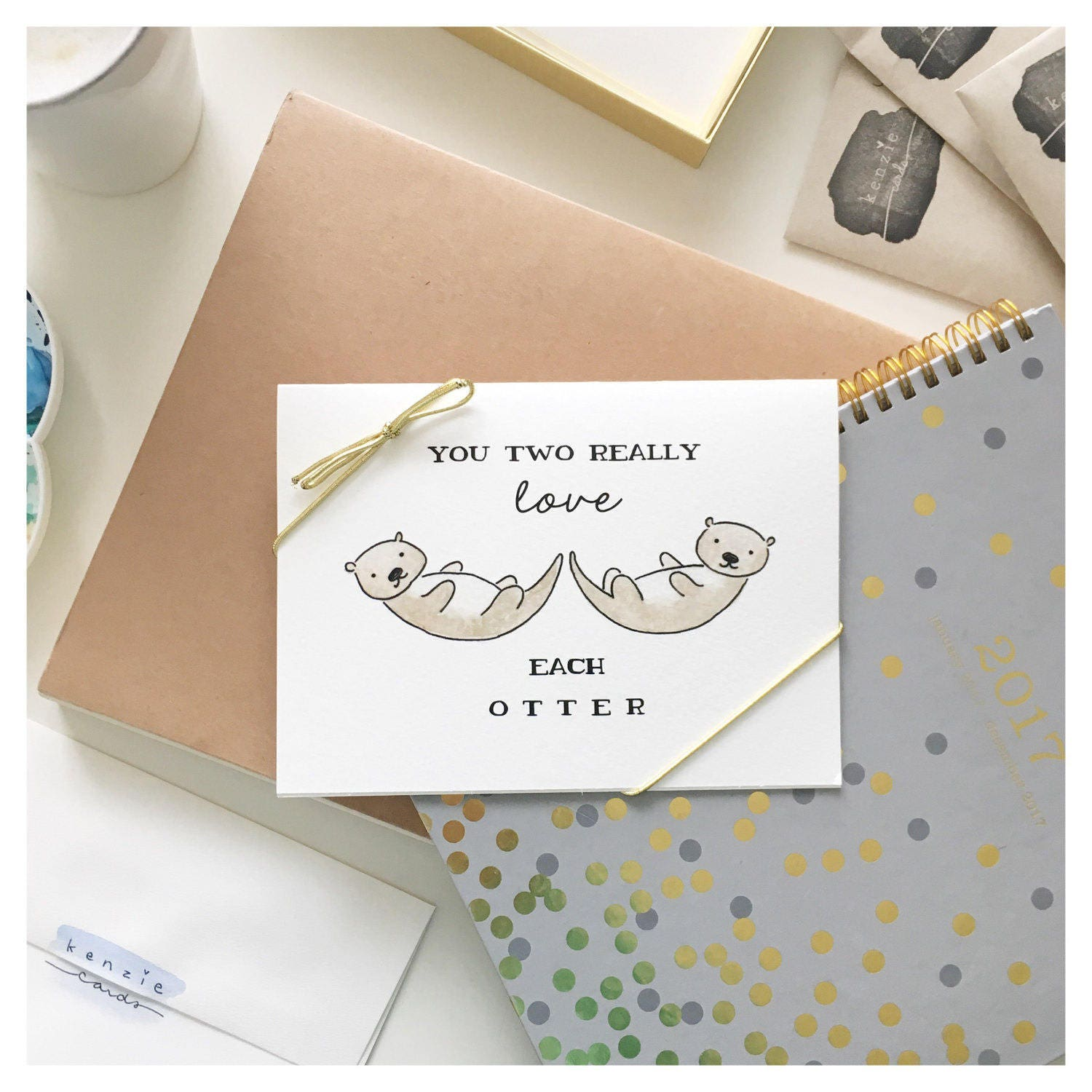 ANNIVERSARY CARD // funny anniversary card, otter, otter card, love ...