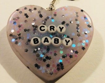 Cute Crybaby resin keychain