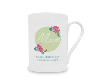 Happy Mothers Day Mum Personalised China Mug