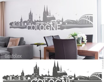 Wall decals skyline Cologne - wall stickers wall stickers mural decal sticker - 4 sizes of color selection motif W108