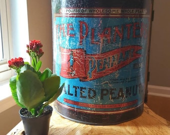 Mr. Peanut Vintage Tin, The Planters Pennant Brand