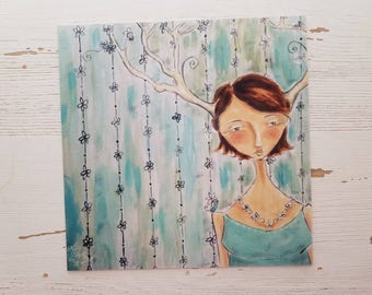 Antler girl 8x8 discontinued prints