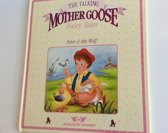 Vintage Book, The Talking Mother Goose Fairy Tales, Peter and the Wolf