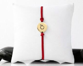Apple Bracelet, Apple Jewelry, Apple, Teacher Gift, Gift For Teacher, Teacher Jewelry, Teacher Bracelet, Teacher Appreciation
