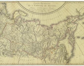 Russian Empire Map 1856