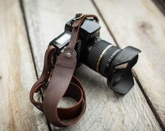 Genuine Leather DSLR Camera Strap - Made in the U.S.A