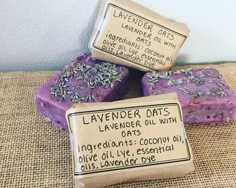 Lavender Oats Homemade Soap