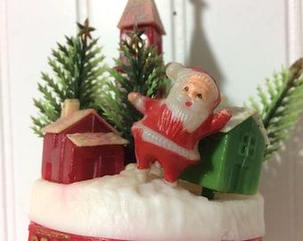 Vintage Santa Wind Chimes so Kitschy!