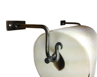 Hand Forged Paper Towel Holder - Wall Mount