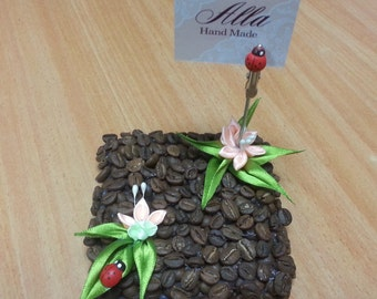 Business card holder for business cards Coffee beans