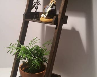 Wooden Ladder Shelf - Espresso