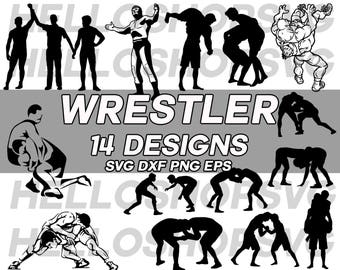 wrestler svg, wrestling svg, MMA, fighter svg, clipart, decal, stencil, silhouette, cut file, iron on, png, cricut file