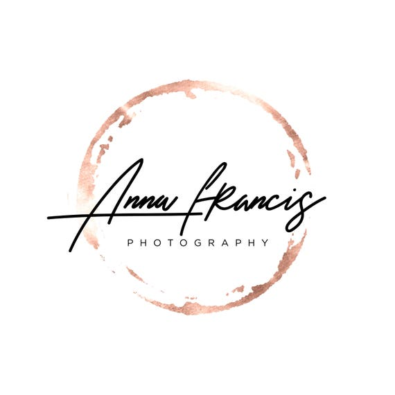 rose gold logo photography logo watermark modern circle logo